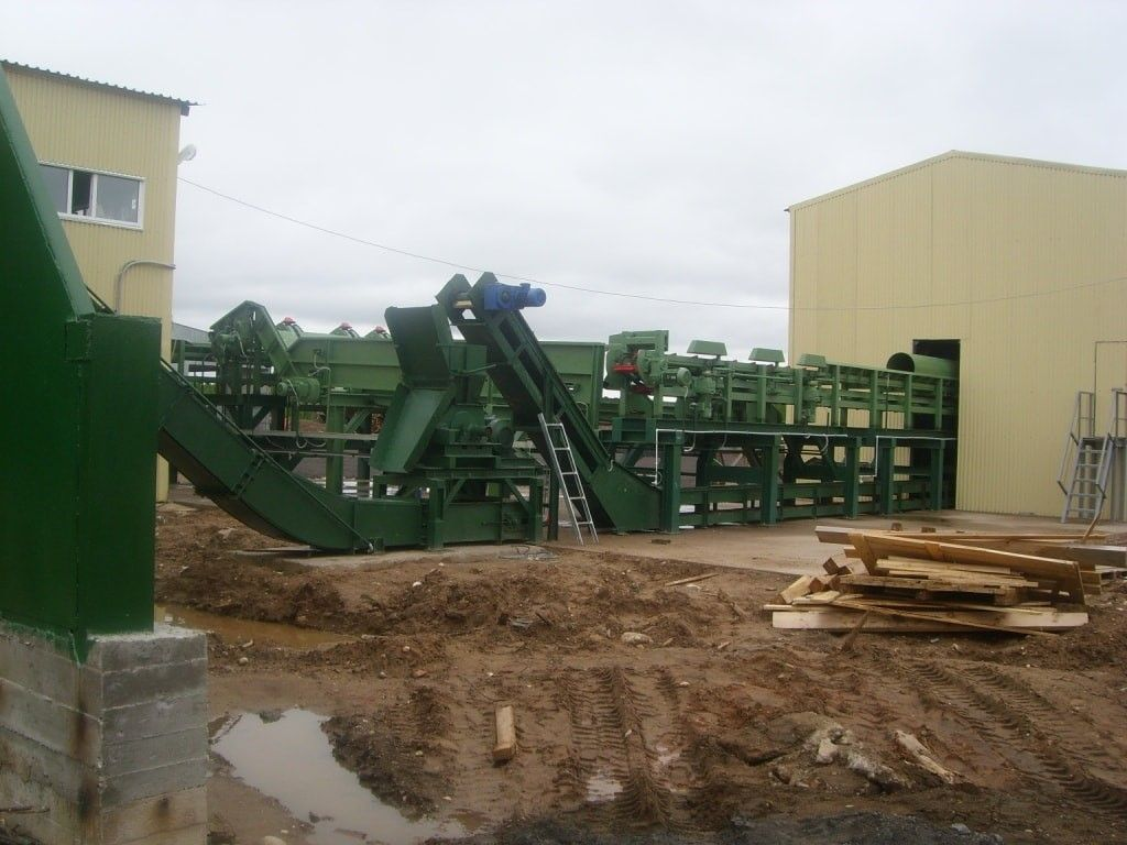 Транспортер удаления отходов лесопиления
