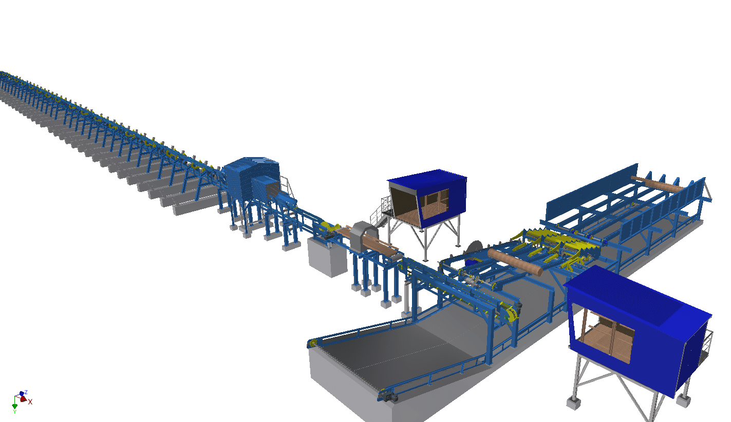 Автоматизированные линии сортировки бревен